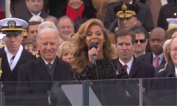Beyoncé Sings National Anthem at President Barack Obama's Inauguration