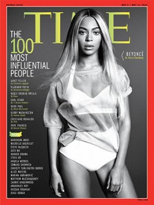 Beyoncé on the cover of Time magazine