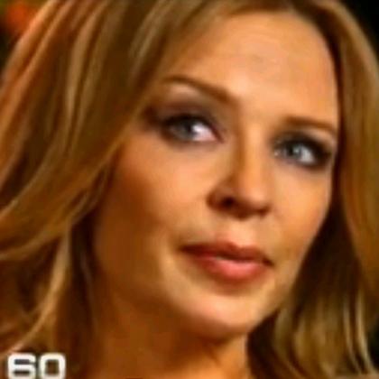 Kylie Minogue tears up