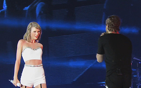 Taylor Swift with Dan Reynolds